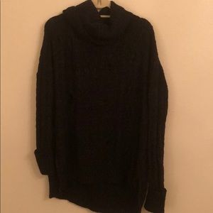 Free People Black Turtle Neck Sweater